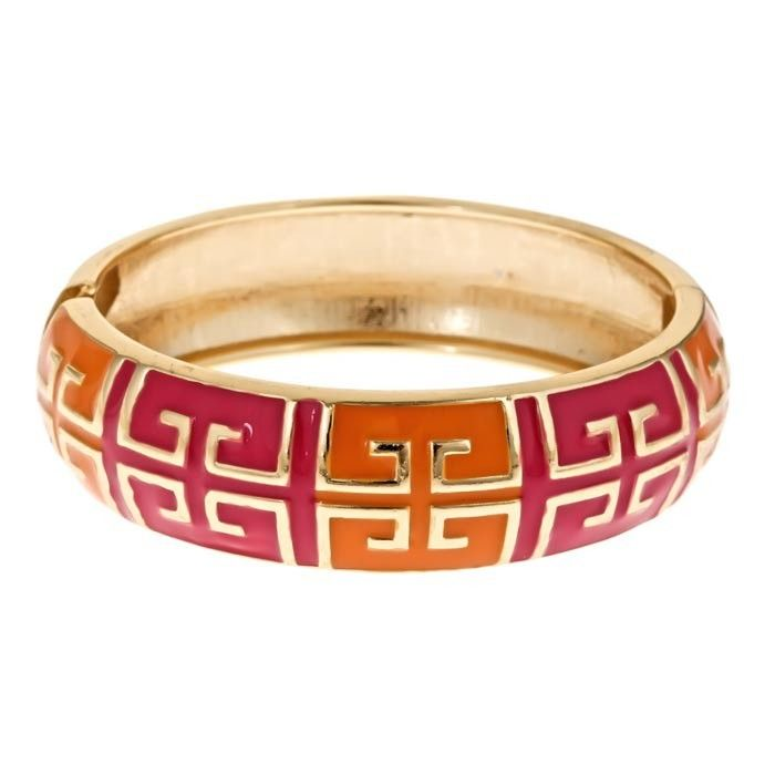 Grecian Bangle in Orange & Pink <3
