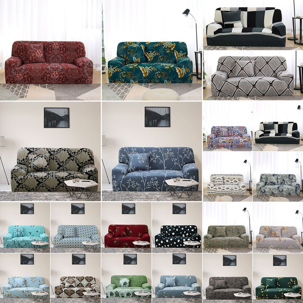 1 Piece Sofa Covers 1 2 3 4 Seater Floral Sofa Slipcover ...