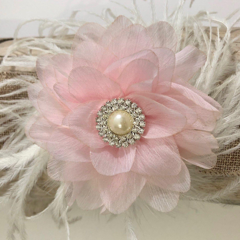 Pretty Pink Flower Fascinator Clip Handmade Fancyflowerclip