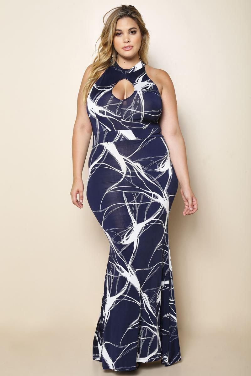 It\'s Electric Plus Size Maxi Dress Dresses+ GS-LOVE | Kristina Yeo ...