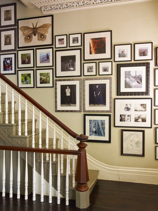 Luv Tons Of Pictures Gallery Wall Staircase Gallery Wall Design Staircase Pictures