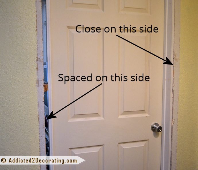 How To Install A Prehung Door Tips From A Novice Addicted 2 Decorating Replacing Interior Doors Interior Door Installation Prehung Interior Doors