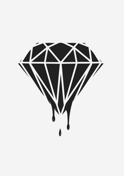 Pin De Alex Cuevas Peres En Tattoo Diamante Dibujo Tatuajes De Diamantes Disenos De Unas