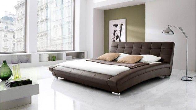 Polsterbett Arenzano In Braunem Kunstleder Bed Made Of Leather
