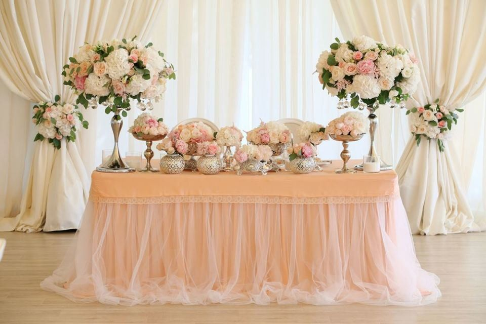Sweetheart table cloth | Floral | Wedding, Wedding table ...