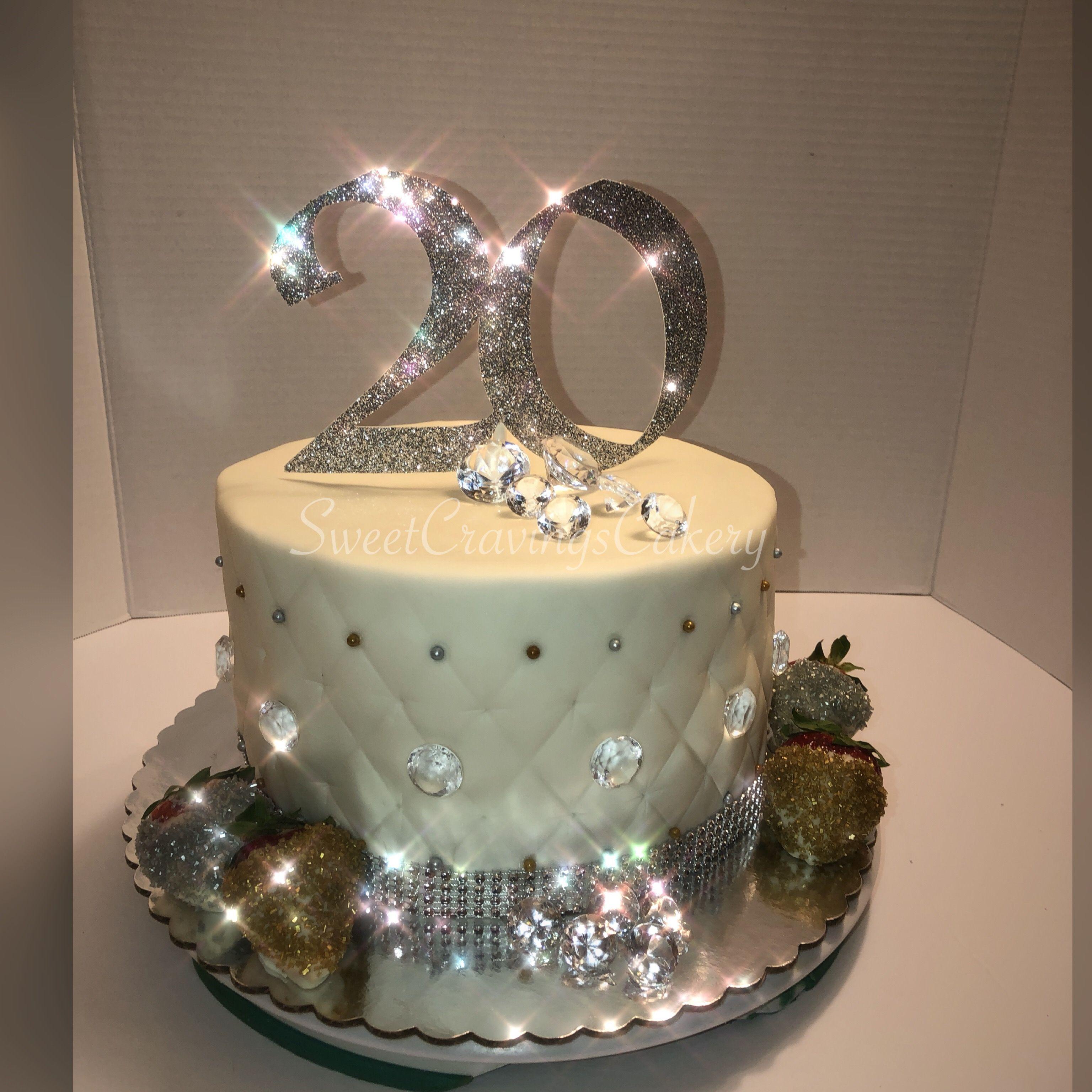 Brilliant Bling Bling Cake With Glitter Strawberries Bling Cakes 20 Personalised Birthday Cards Veneteletsinfo