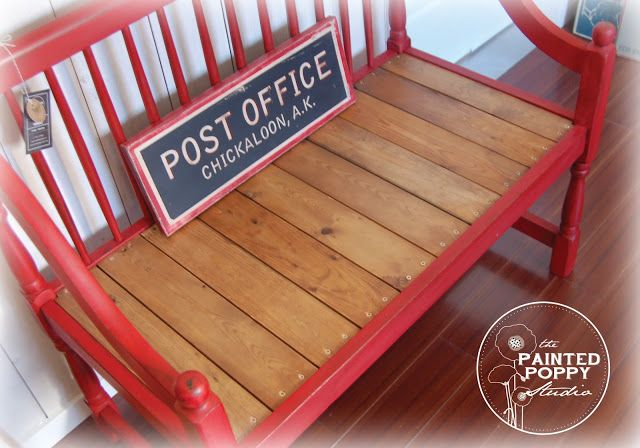 The Painted Poppy Studio: Sassy Red Bench | neat things to build ...
