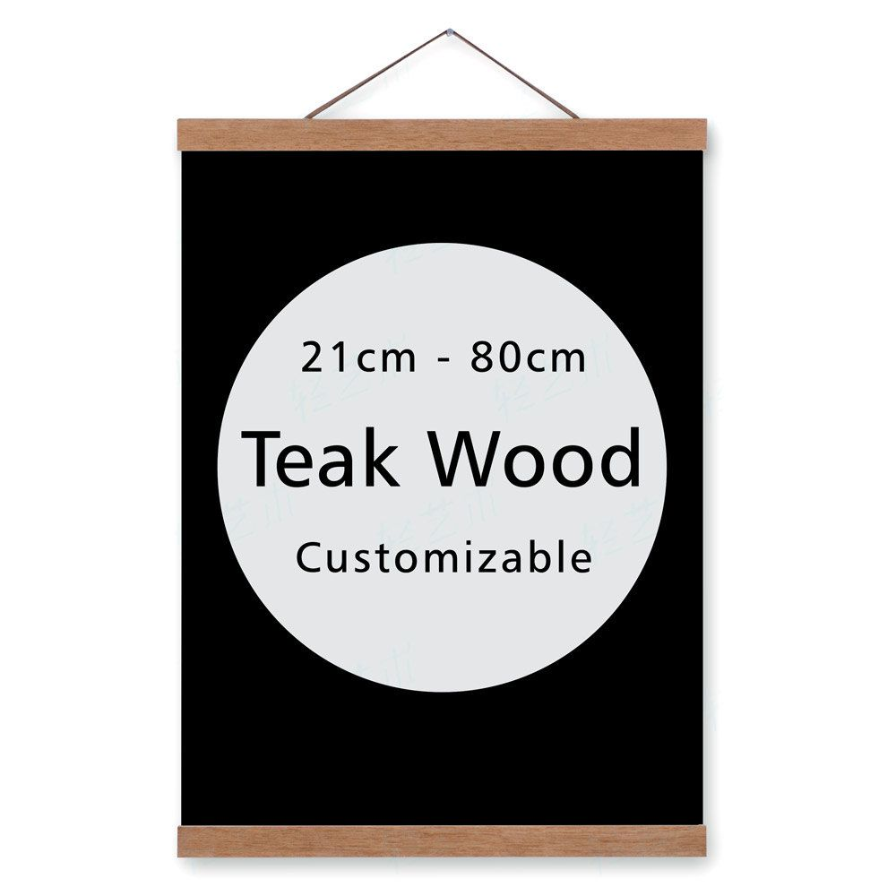 Freeshipping Magnet Poster Picture Wood Frame Hanger Modern Minimalist Ikea A3 Canvas Photo Prints Scroll Home Wal Poster Hanger Art Hanger Canvas Photo Prints