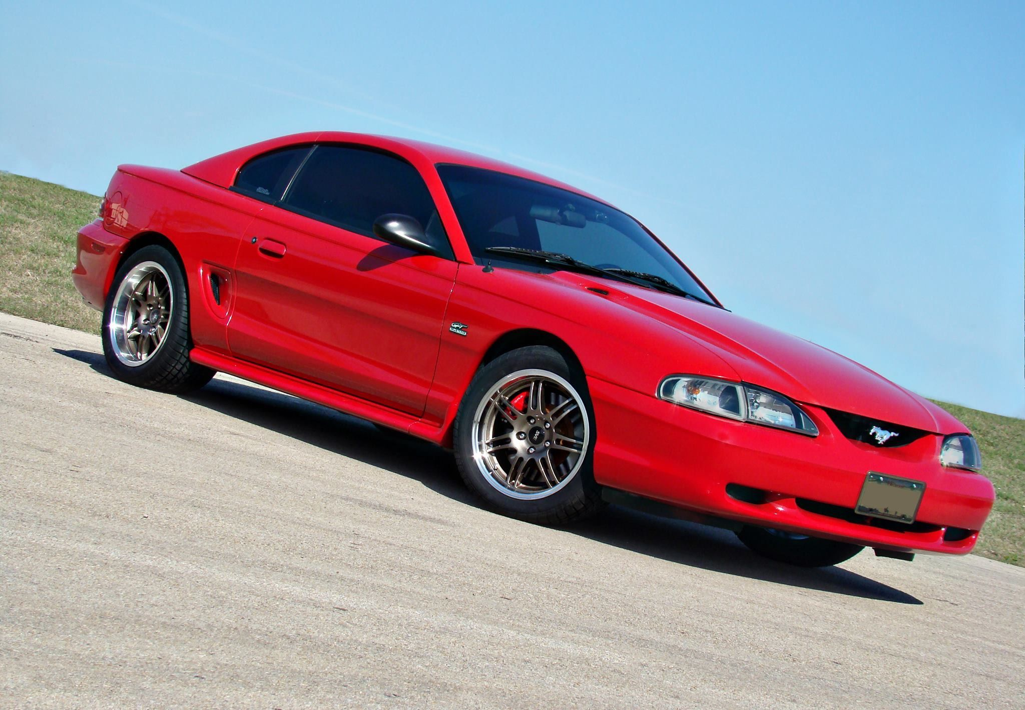 Pin by Ron Clark on Ford: 1994-98 Mustang: SN95   Mustang gt, Ford mustang, Red mustang
