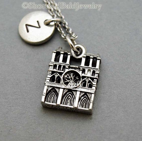 Notre dame de paris necklace notre dame cathedral necklace initial notre dame de paris aloadofball Choice Image