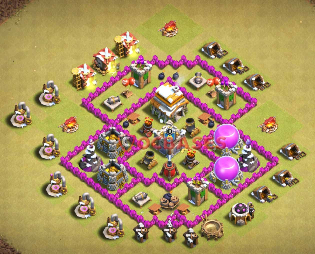 Coc Th 6 Best War Base 2