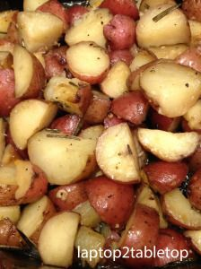 slow-cooked herbed roasted baby red potatoes via laptop2tabletop