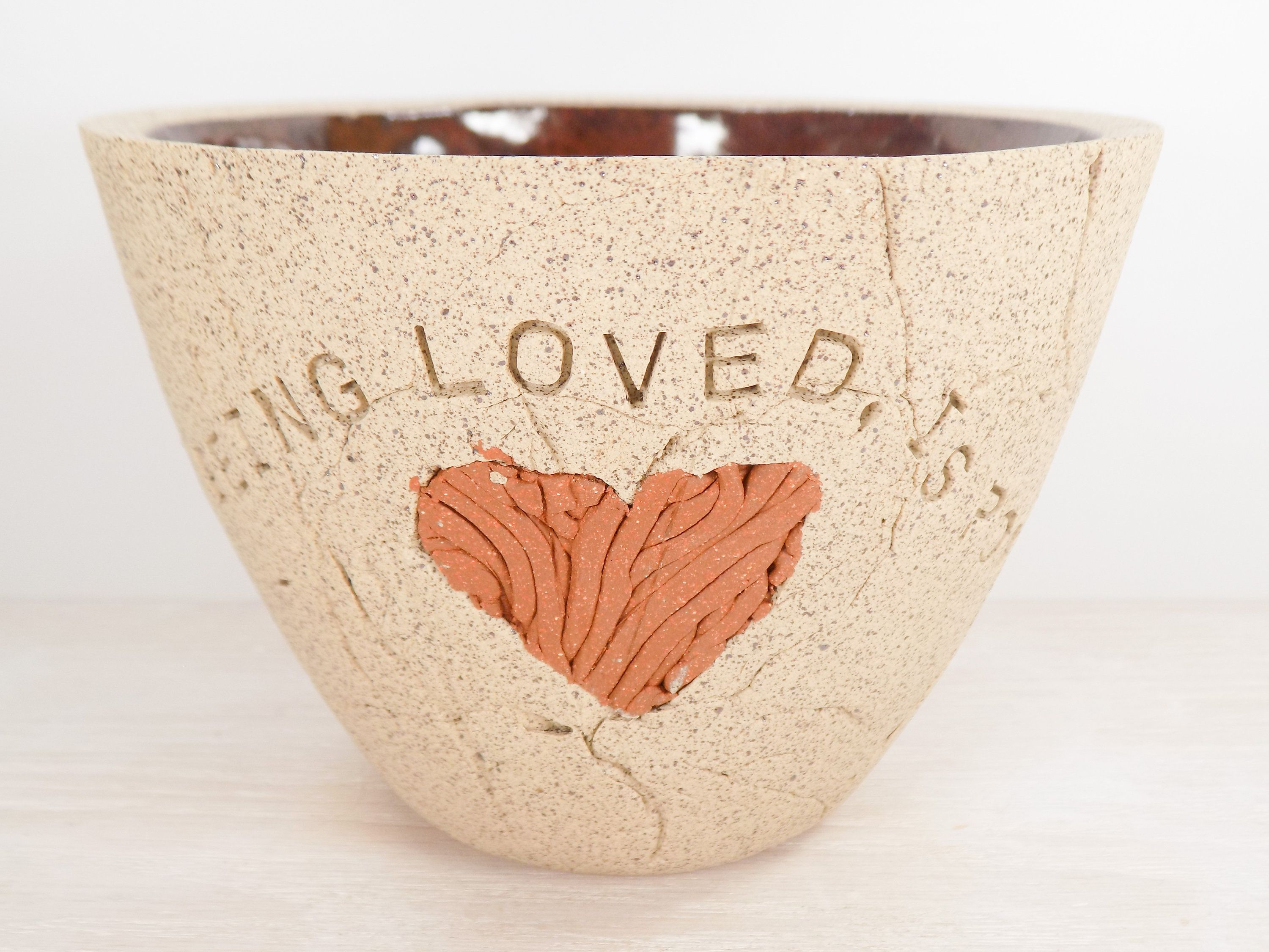 Oscar Wilde Pottery Bowl Who, Being Loved, Is Poor