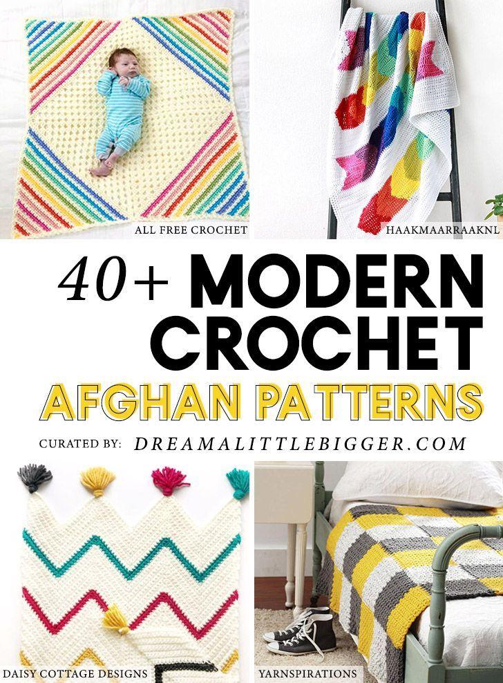 40+ Modern Crochet Afghan Patterns | Pinterest | Häkeln