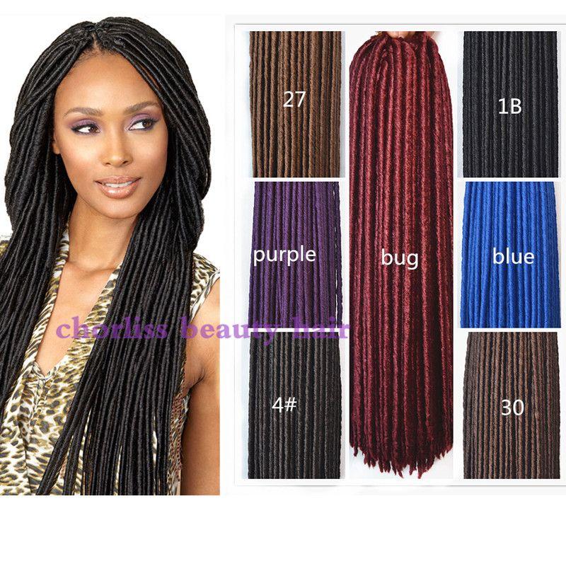 Senegal Mambo Twist Gehaakte Braid Haar Senegalese doos vlechten Faux Locs Synthetische dreadlocks vlechten hair extensions 24 stks/pak