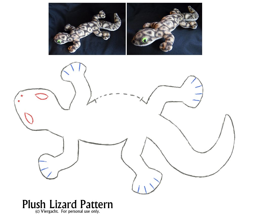 Plush lizard pattern by viergacht on deviantart sewing or sewing stuffed animals plush lizard pattern by viergacht on deviantart jeuxipadfo Image collections