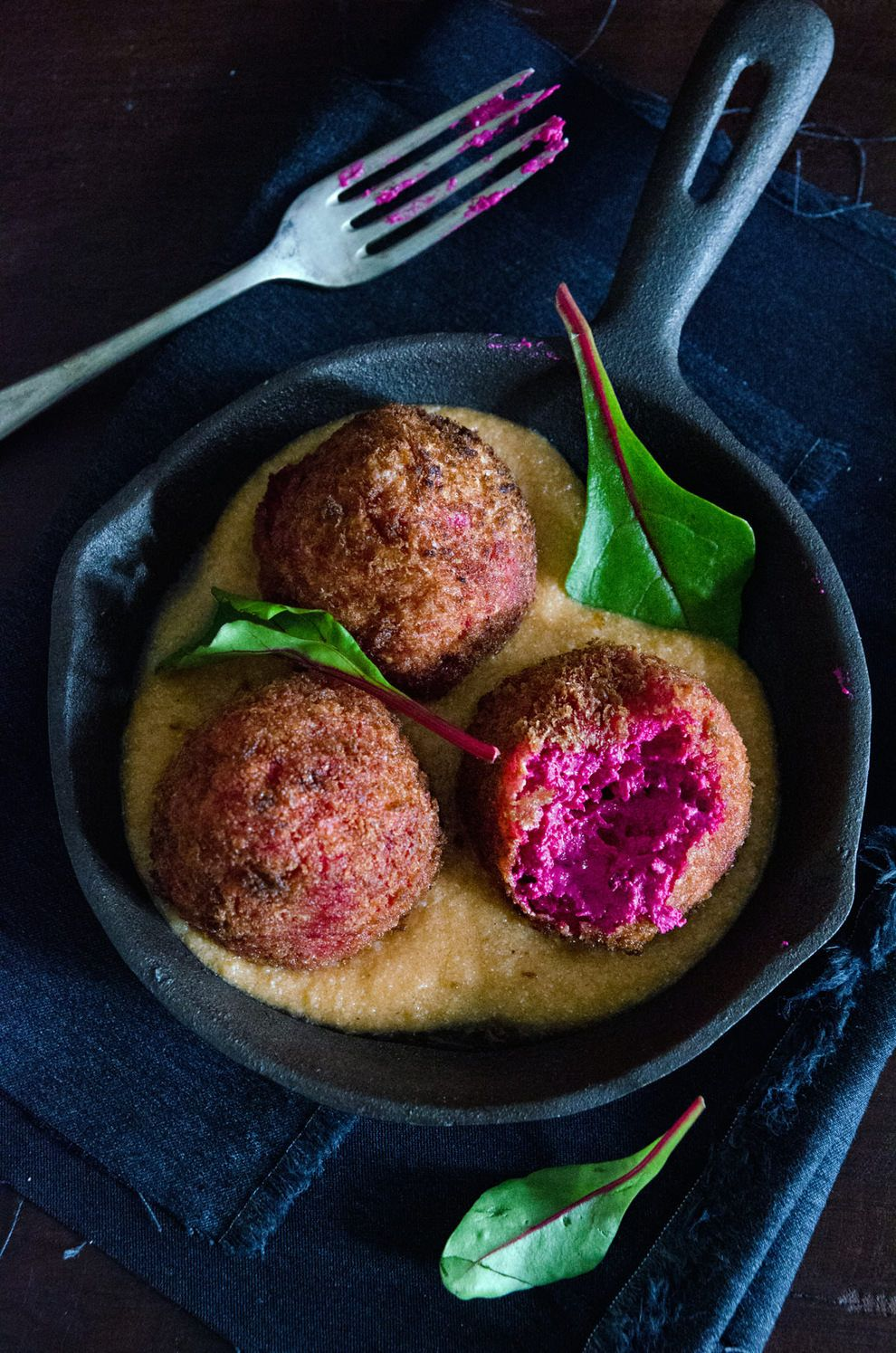 Beetroot goat cheese croquettes with salmorejo beetroot goat beautiful tasty croatian food beetroot goats cheese croquette from he needs food http forumfinder Images