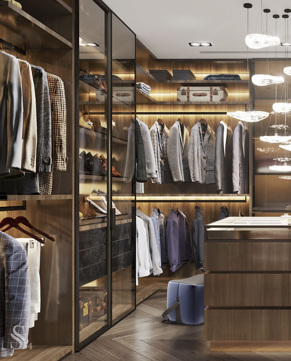 The Molteni & C brutal master wardrobe with a functional