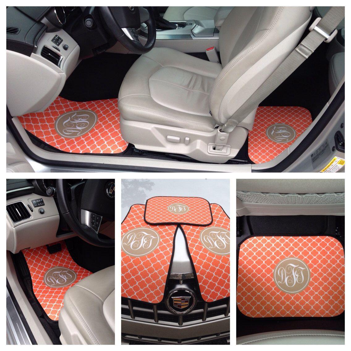 Monogrammed Car Floor Mats, Monogrammed Car Accessories for Women ...