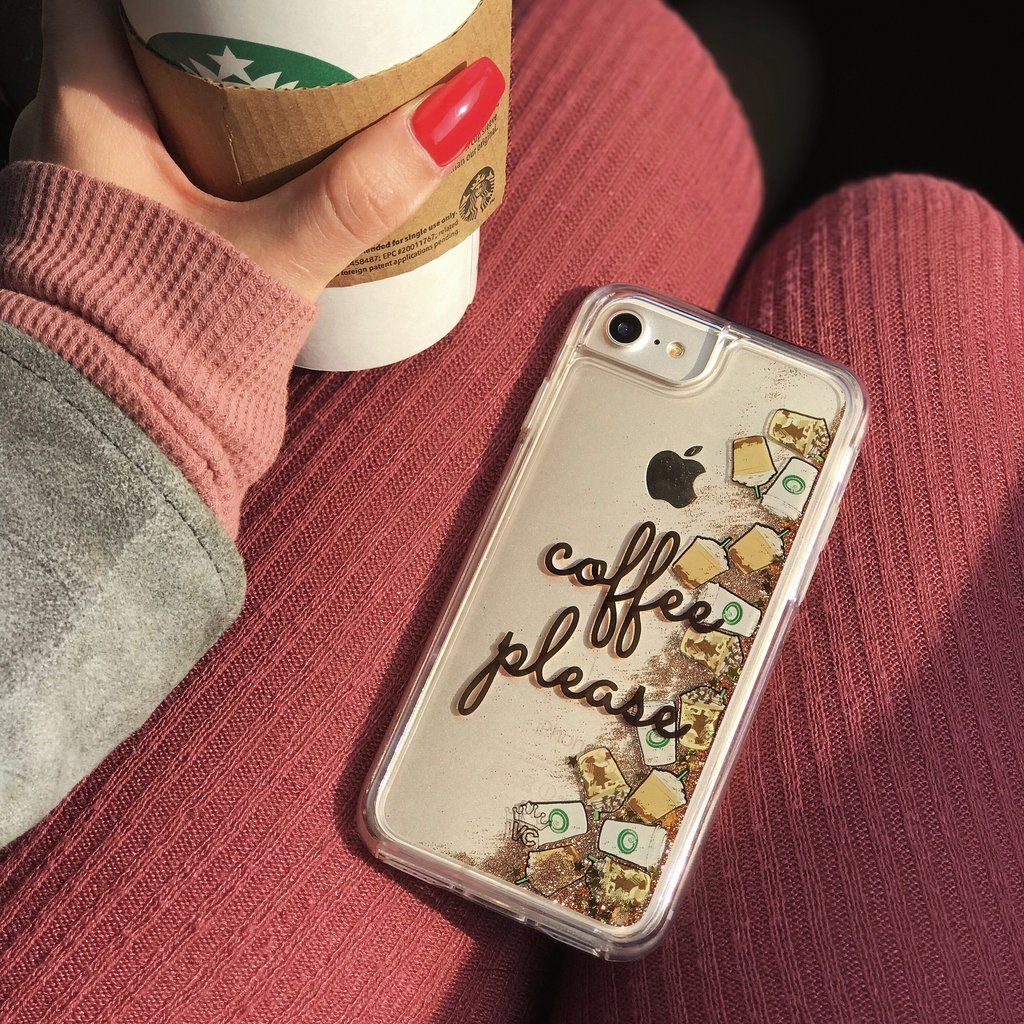 new concept c8fb5 f2697 Coffee Please Glitter iPhone Case in 2019 | Coffee Lovers | Glitter ...