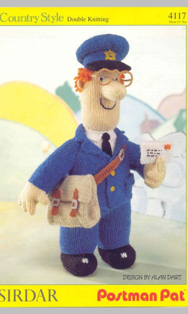 Postman Pat knitting pattern PDF instant download, postman pat, Pat ...