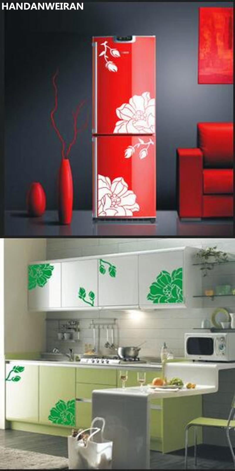 1set Wall Sticker Decals Dining Table Stickers Wardrobe Cabinet Glass Furniture Refrigerator Yulan Magnolia