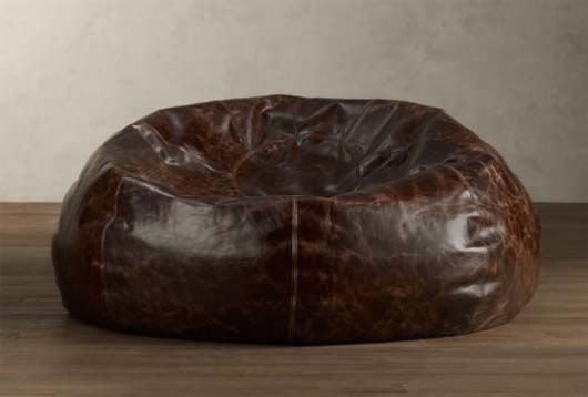 Classy Bean Bag Chairs Black Bar Stool Worn Leather Much Classier That The Usual Polyester