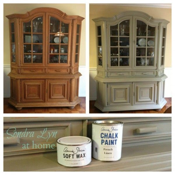 Chalk Paint Kitchen Cabinets Green: China Cabinet Chalk Paint Makeover