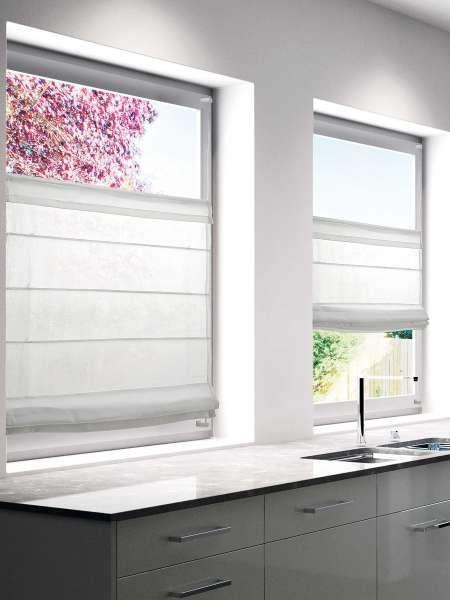 Faltrollo MOOD weiß 60x130cm (BH 60x130 cm) Fenster gestalten