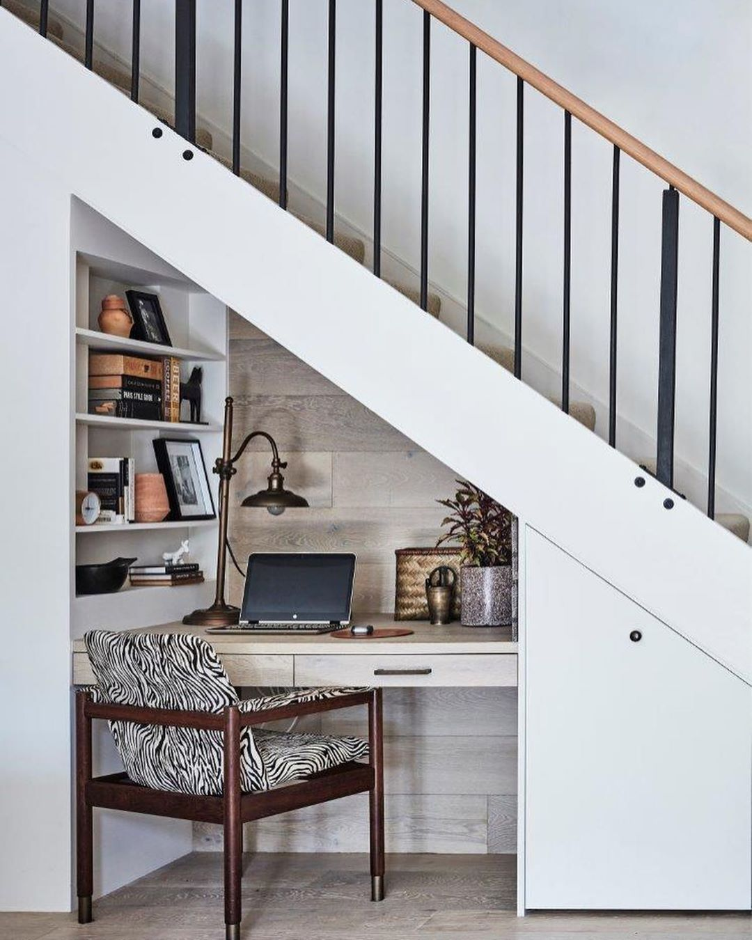 Home Tour By Studio Kate Room Under Stairs Under Stairs Nook Desk Under Stairs