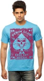 953d72f39faf Huetrap Printed Men s Round Neck Blue T-Shirt