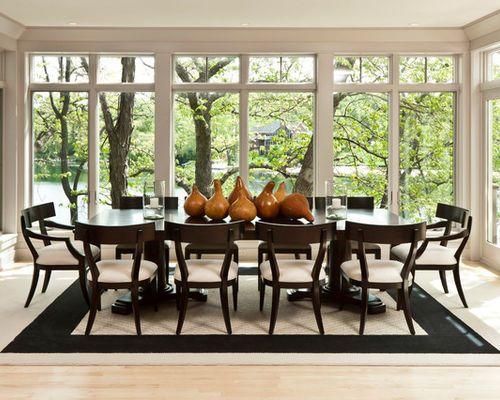 Exemple du0027une salle à manger tendance avec un sol en bois clair - modele de salle a manger design