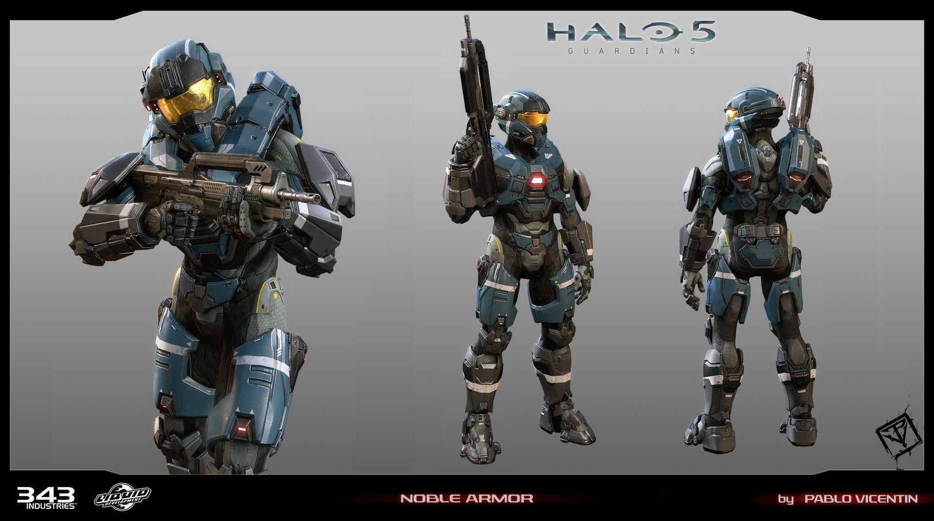 Noble Class Mjolnir Gen2 Halo Armor Halo 5 Guardians Halo