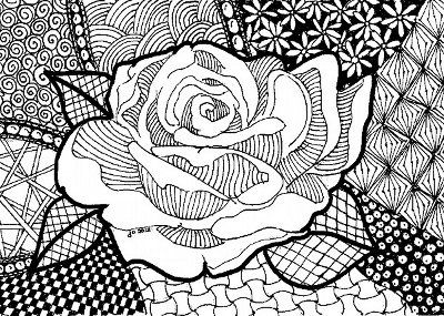 Zen Heart Colouring Pages