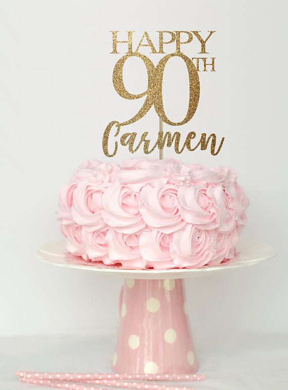 90 And Fabulous Cake Topper Birthday Decorations 90th Decor
