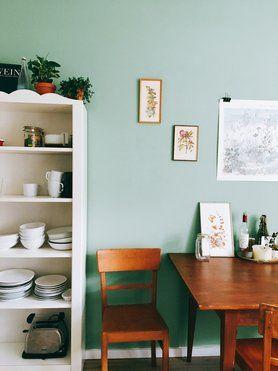 grün und gemütlich #solebich #einrichtung #interior #küche ... - Vintage Wohnzimmer Grun
