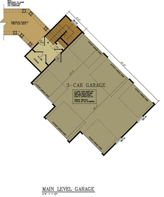 3 Story 5 Bedroom House Plan With Detatched Garage