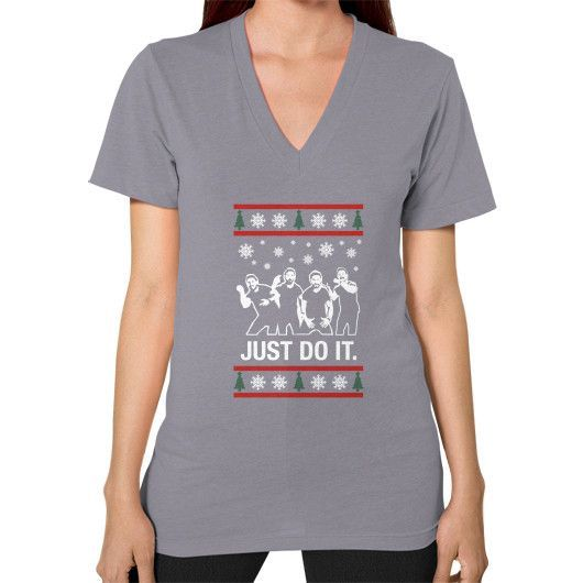 Fashions just do it xmas V-Neck (on woman)