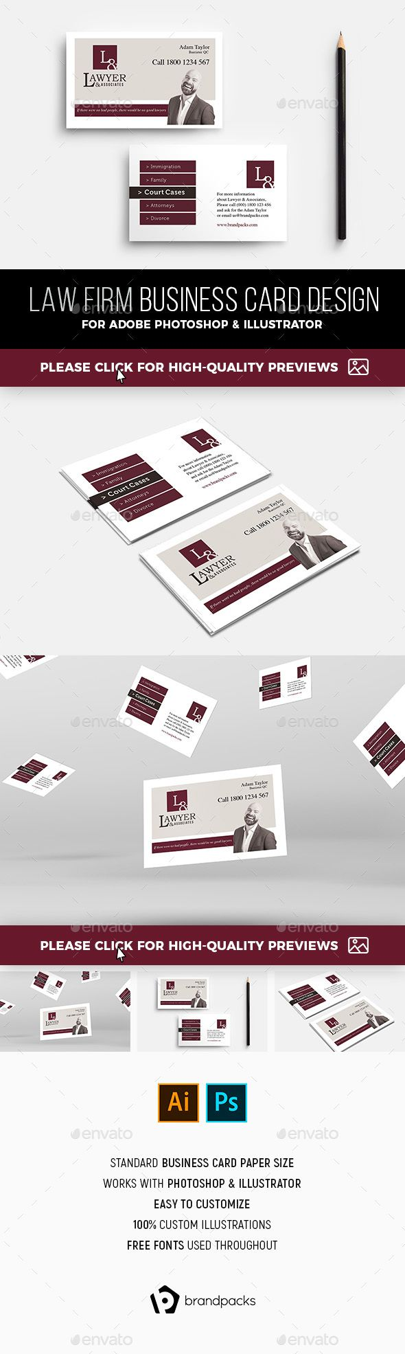 Law firm business card template corporate flyers business card law firm business card template corporate flyers reheart Images