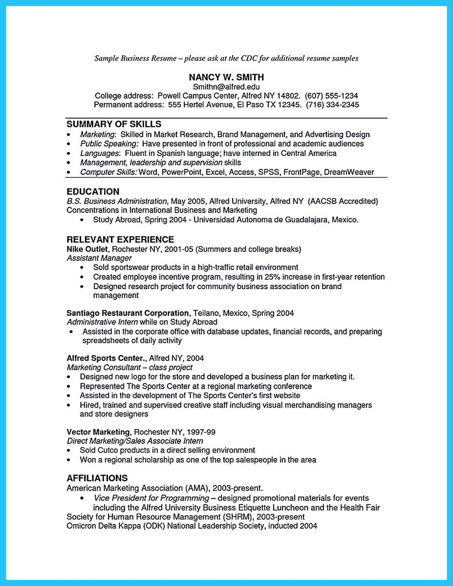 Awesome The Most Excellent Business Management Resume Ever
