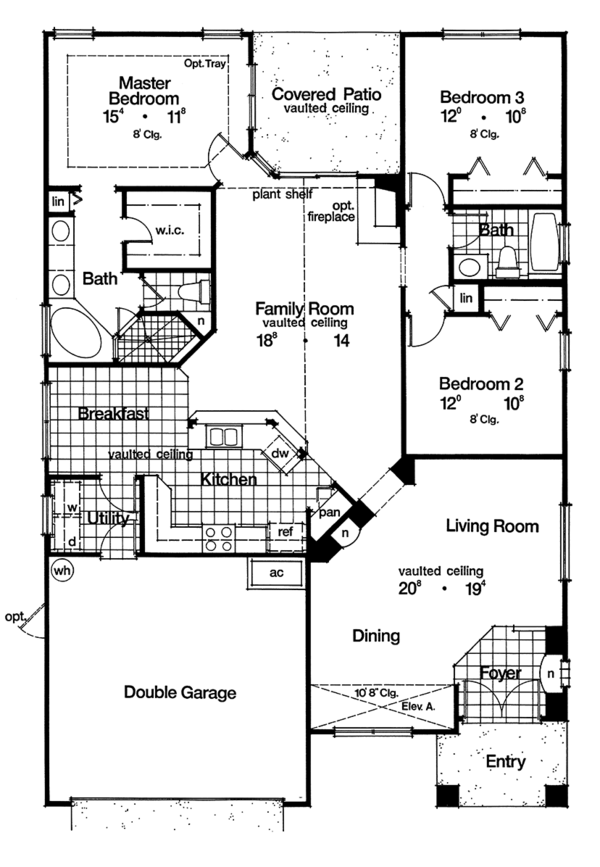 Craftsman Style House Plan 3 Beds 2 Baths 1768 Sq Ft Plan 417 826 Craftsman Style House Plans Craftsman Floor Plans House Plans