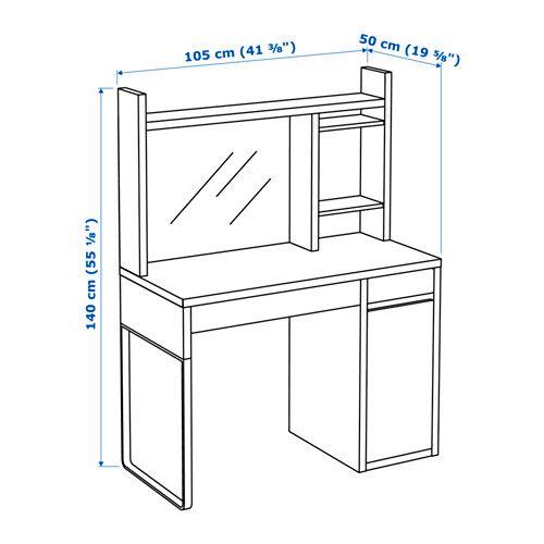 Micke Desk White 41 3 8x19 5 8 Add To Cart Ikea Micke Desk Ikea Micke Ikea Micke Desk