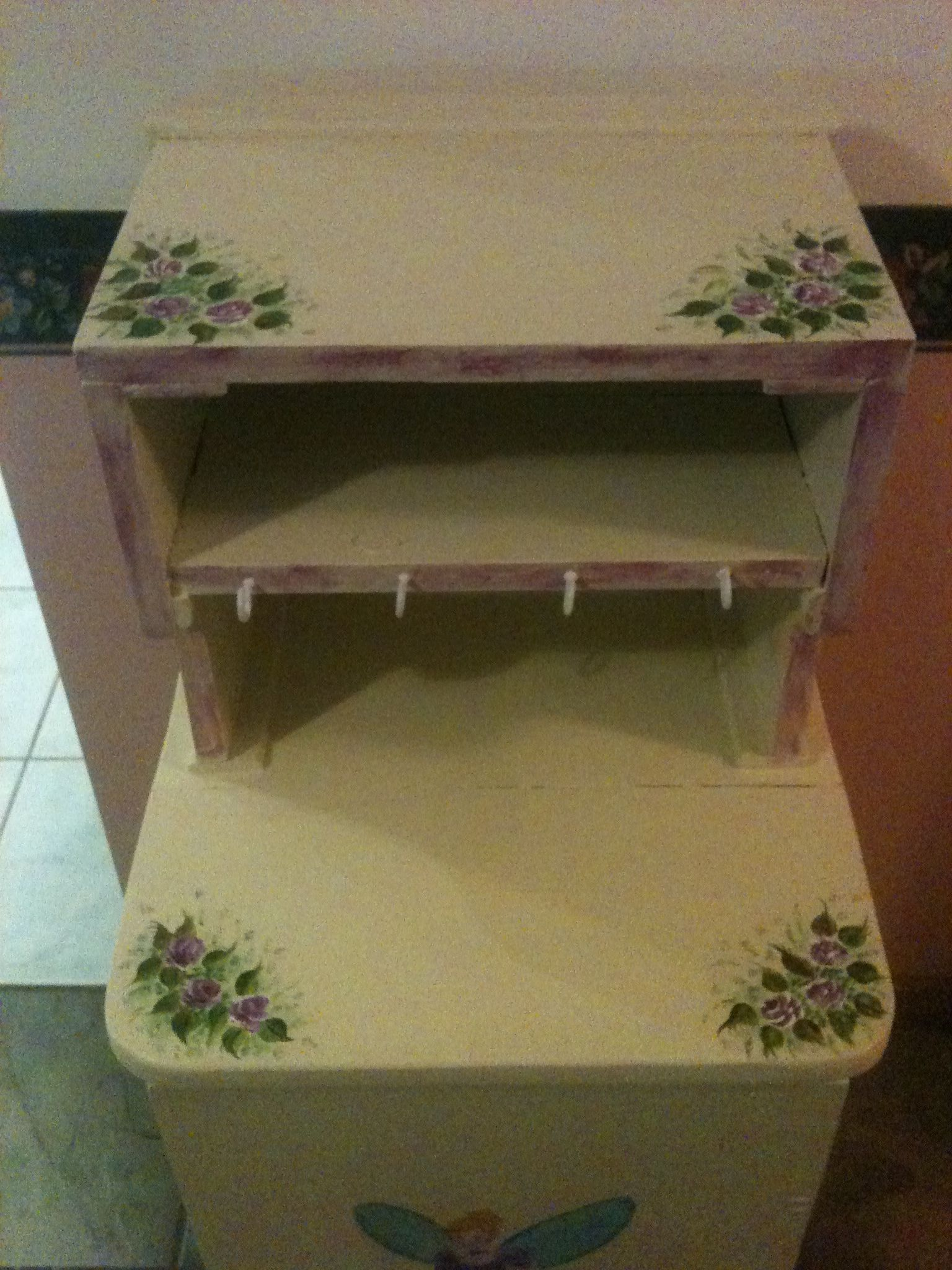 Painting on a mini dresser for a little girl by Therese Vahland