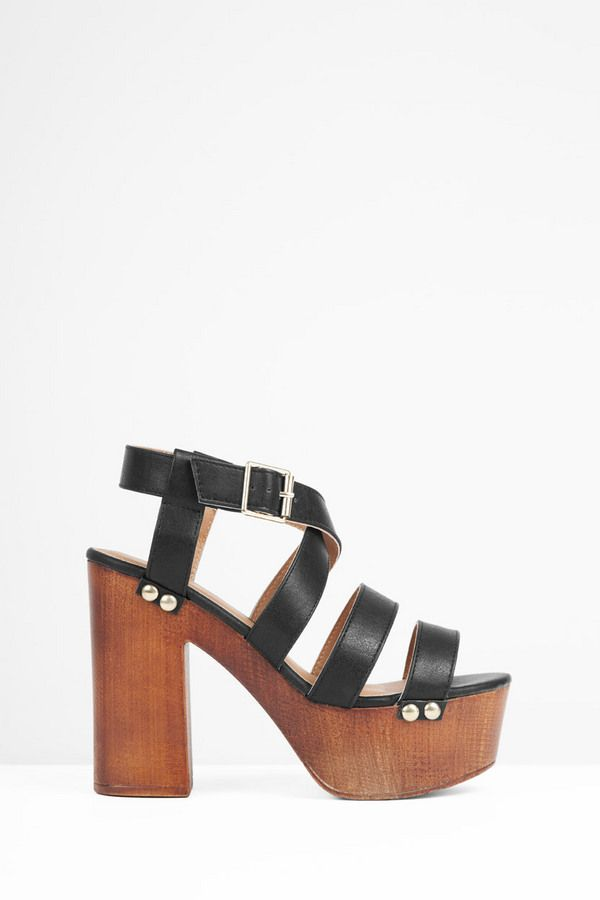 2b64f8563c5 Elma Wood Heel Sandals at Tobi.com  shoptobi