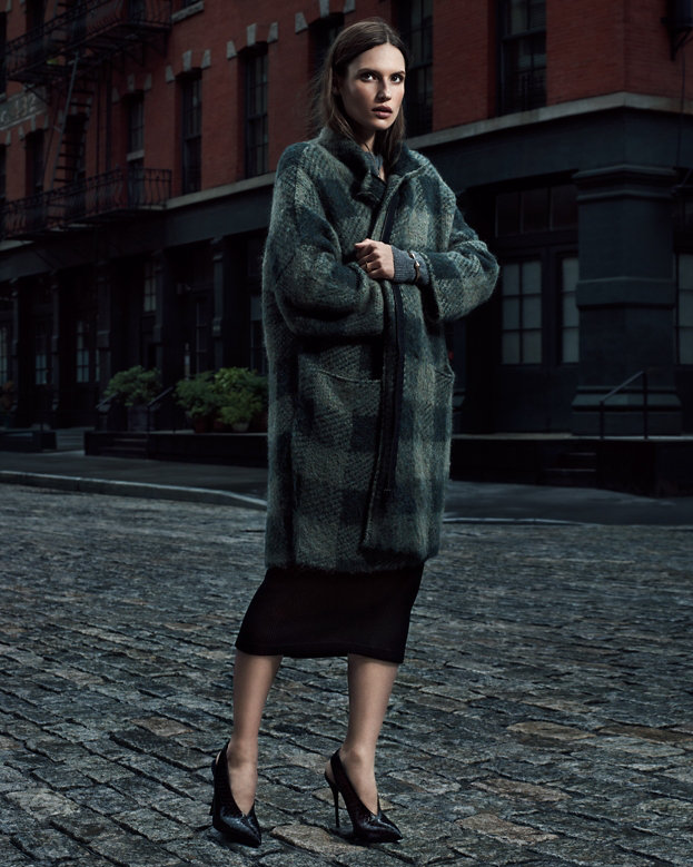 Rag & Bone Cammie Oversized Gingham Coat