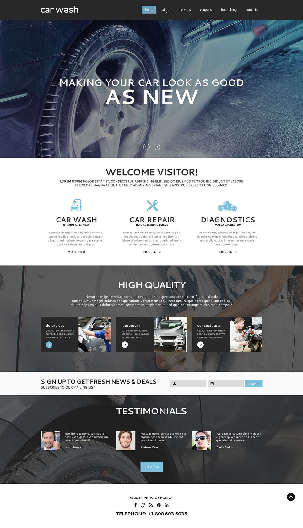 Car Wash Responsive Website Template | Car wash, Timeline and Template