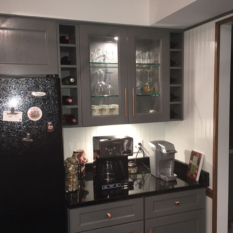 Best Midtown Gray From Kitchen Cabinet Kings Full Overlay 400 x 300