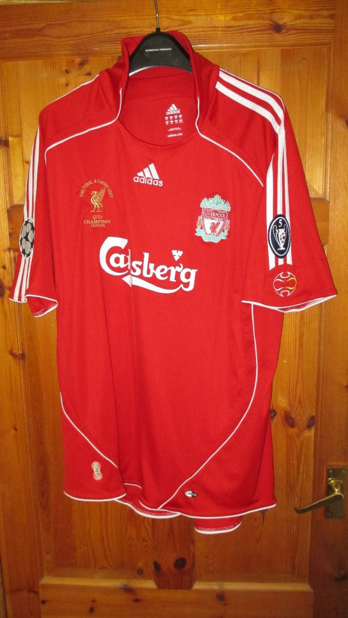 675b7a29e I m selling Adidas Liverpool Home 2006-08 with Champions League Badges