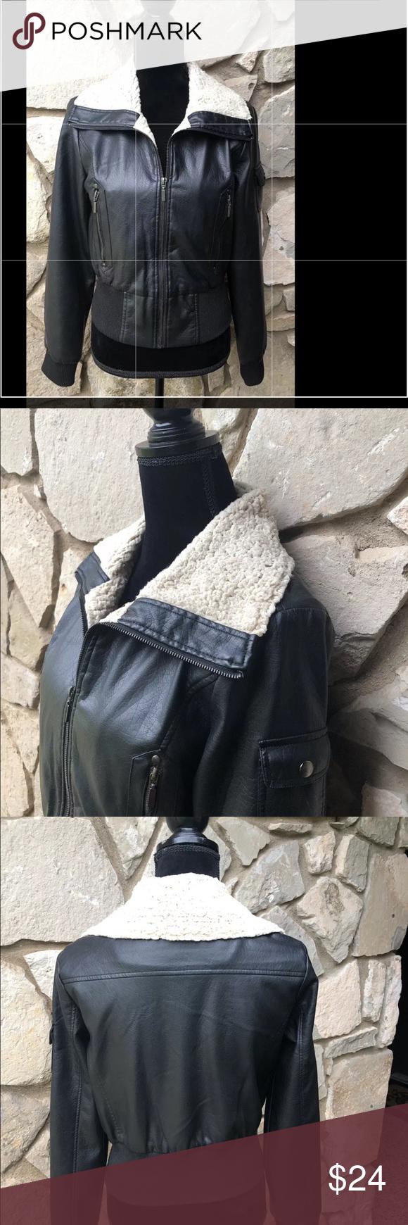 Yoki Faux Leather Jacket Yoki Outerwear Black Faux Leather Moto Jacket Size M Serpa Collar Fr Black Faux Leather Moto Jacket Street Style Jacket Clothes Design [ 1740 x 580 Pixel ]