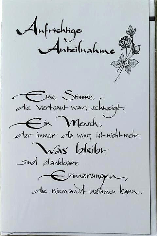 Pin Von Marga Whigham Auf Sympathy Trauerkarte Schreiben